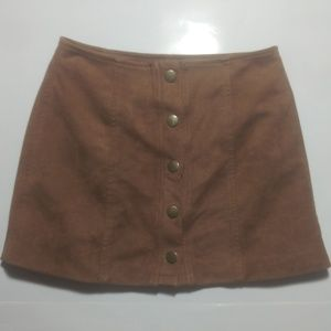 Dresses & Skirts - Brown Suede-Like Skirt